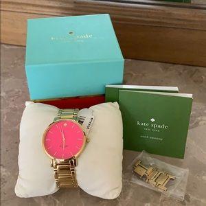 Kate Spade Gold/ Pink Watch